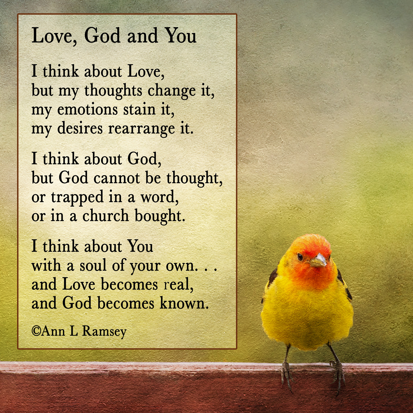 Love, God and You