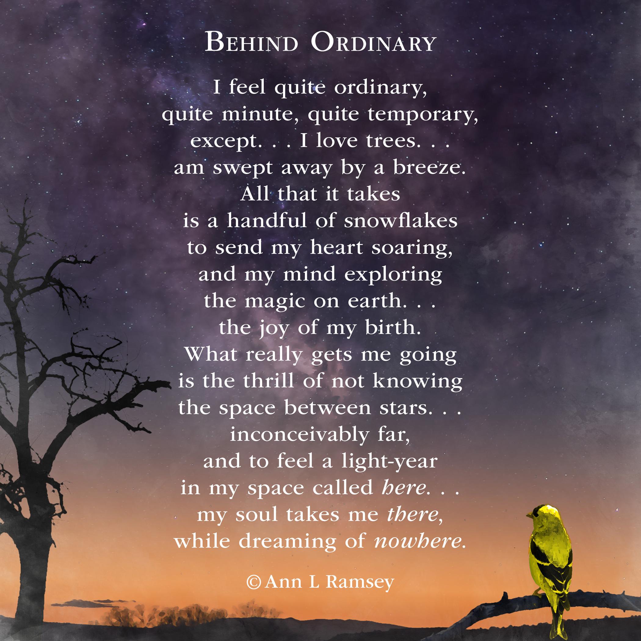 Behind Ordinary
